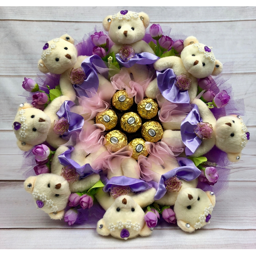 Composition Teddy Bear Bouquet #17